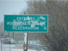 Wind River Rez sign