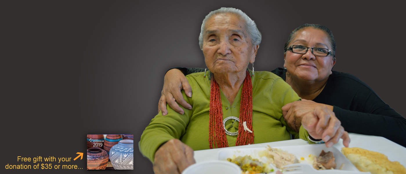 Give the gift of food to a Native Elder in need...