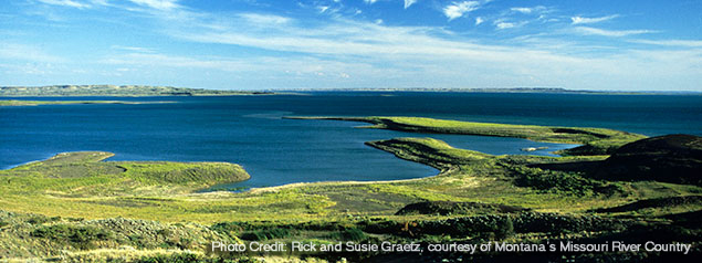 Montana: Fort Peck Reservation - image of lake