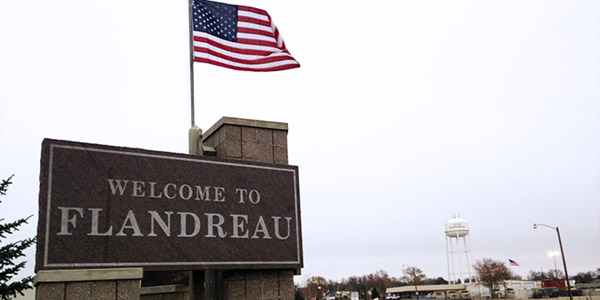 Reservation: Flandreau Welcome Sign
