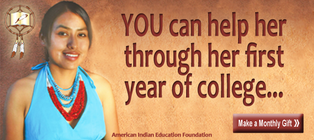 Only 17% of Native American high school students go to college...  You can help them build a brighter future.