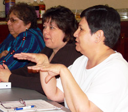 Native American Partners in a training class.