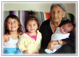 Native Elder and her grandchildren