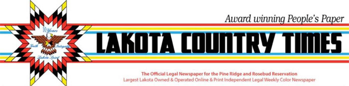 Lakota Country Times banner - used with permission.