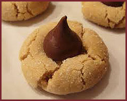 Leslie's Peanut Butter Hershey Blossom Cookies