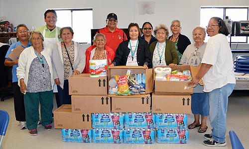 Group shot of Elders who received boxes