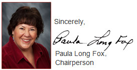 Paula Long Fox, Chairperson
