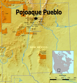 Map: New Mexico: Pojoaque Pueblo
