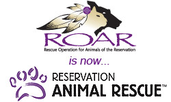 Rescue Operation for Animals of the Reservation is now Reservation Animal Rescue