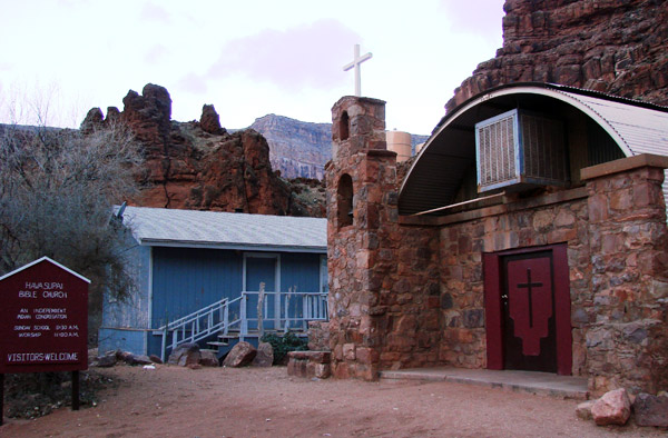 Church in Havasupai Reservation