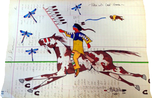 Ledger Art - Rides with Great Honor