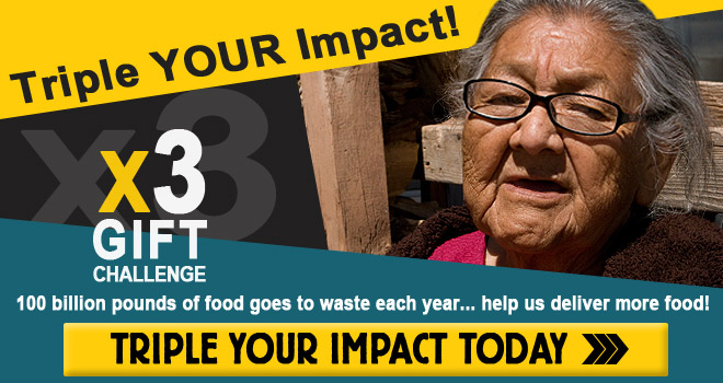 Triple the value of your gift... donate to our food challenge today!