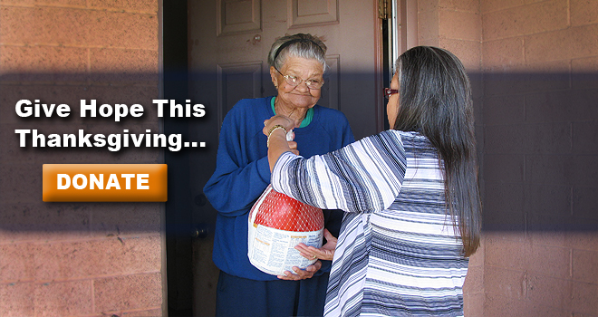 Deliver more than turkey's to Elders in need this Thanksgiving... deliver smiles and hope - Donate Today!