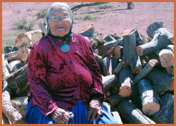 Elder with Firewood