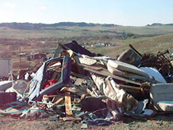 A dump on a Native American reservation