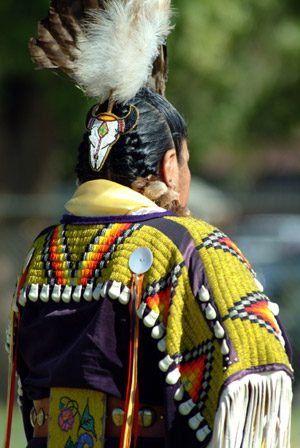 Native in traditional wear