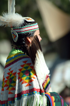 Native woman in traditional wear