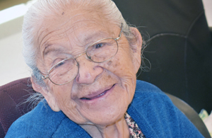 photo of zuni elder at senior center