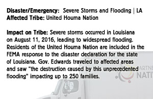 Severe Storms and Flooding - United Houma Nation